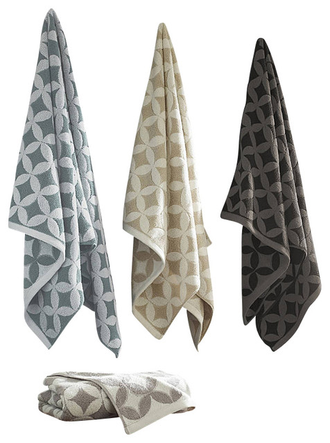 Prati Luxury Towels, 12-Piece, White traditional-towels