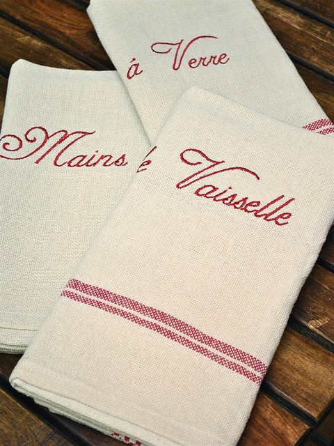 Tea Towels - French Dish Towels - Set of 3 eclectic-dish-towels