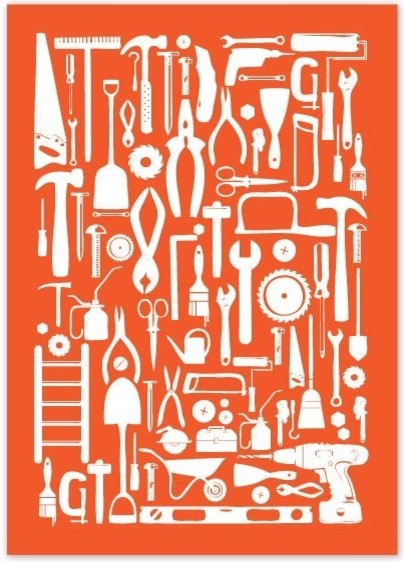 Toolbox Poster by Creative Neesh modern artwork