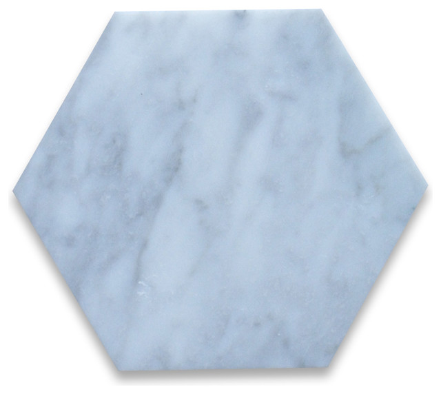 Carrara White 6 Inch Hexagon Tile Polished Marble From