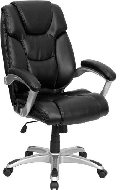 Flash Furniture High Back Black Leather Executive Office Chair - GO-931H-BK-GG traditional-office-chairs