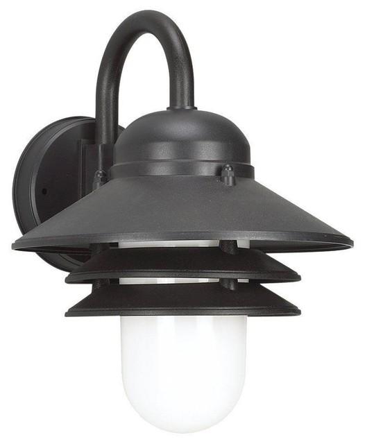 Sea Gull Lighting-83055-12-Nautical - One Light Outdoor Wall Mount - Transitional - Outdoor Lighting