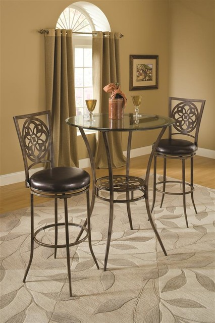 Bar Height Bistro Dining 3 Piece Set contemporary-indoor-pub-and-bistro-tables