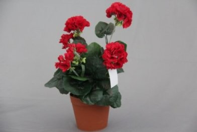 Red Geranium Artificial Replica Plant modern-artificial-flowers-plants-and-trees