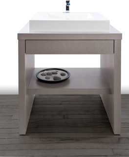 Z collection modern bathroom vanities and sink for Bathroom cabinets montreal