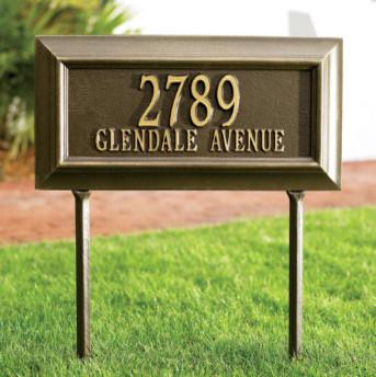 Bayonne Estate-Size Address Plaque traditional-artwork
