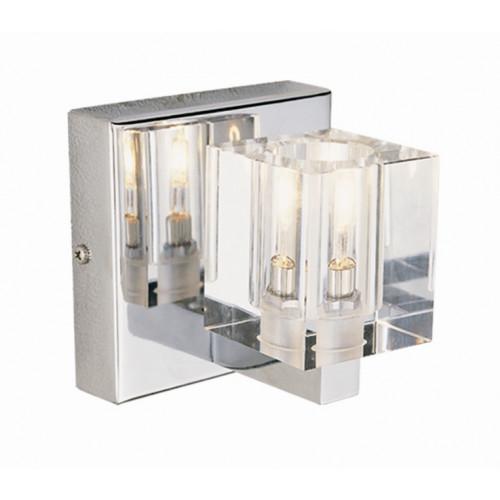 1 Light Crystal Sconce modern-wall-sconces