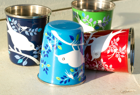 Mini Eva & Lolita Hand-Painted Cups contemporary barware