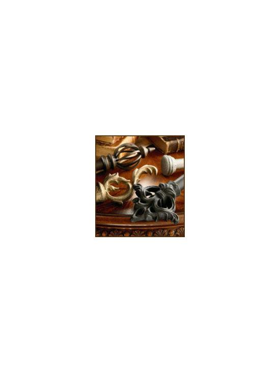 Kirsch Wrought Iron Collection - Kirsch Wrought Iron Collection, Wrought iron Drapery Hardware, Wrought iron Finials, Wrought iron Poles, metal Poles, Wrought iron Drapery Rods, Wrought iron Curtain Rods, Kirsch Drapery Hardware, Decorative Drapery Hardware