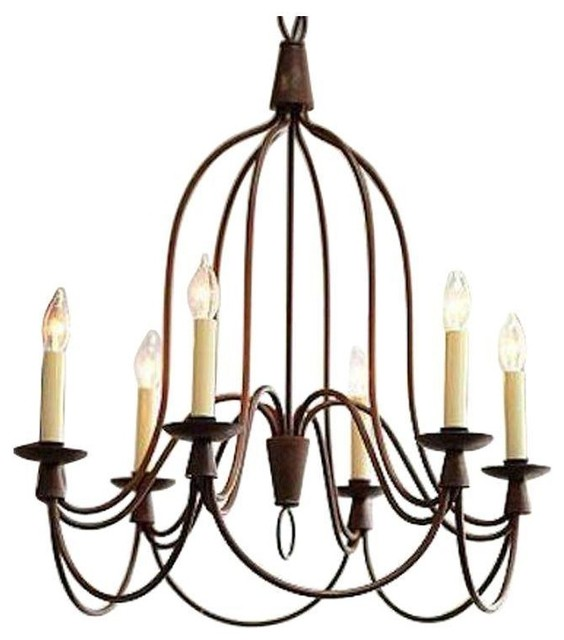 Pre Owned William Sonoma 6 Light French Country Chandelier