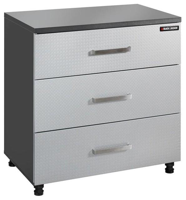 Garage Storage Systems & Accessories: BLACK+DECKER Garage Cabinets 3-Drawer - Contemporary ...