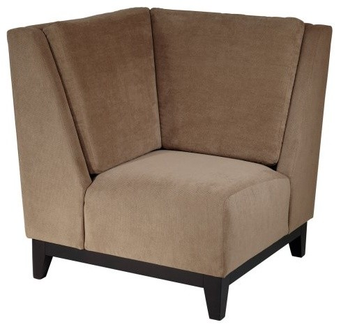The Office Star Merge Corner Chair in Easy Brownstone is a great way to dress up contemporary-living-room-chairs
