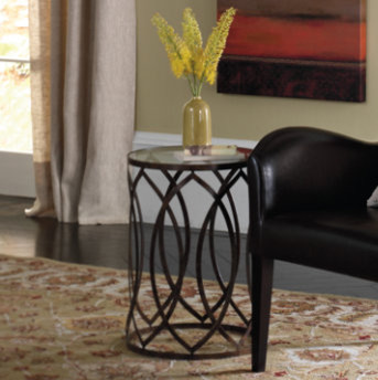 Garner Steel Barrel Accent Table traditional-originals-and-limited-editions