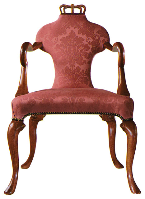Queen Anne Arm Chair Plain Traditional Armchairs And Accent Chairs on fleur de lis home furniture