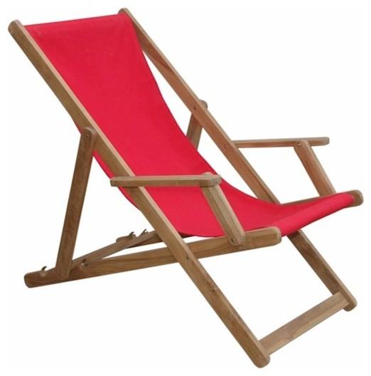 Beach Folding Armchair w Canvas Sold as a pair Contemporary Outdoor Fo