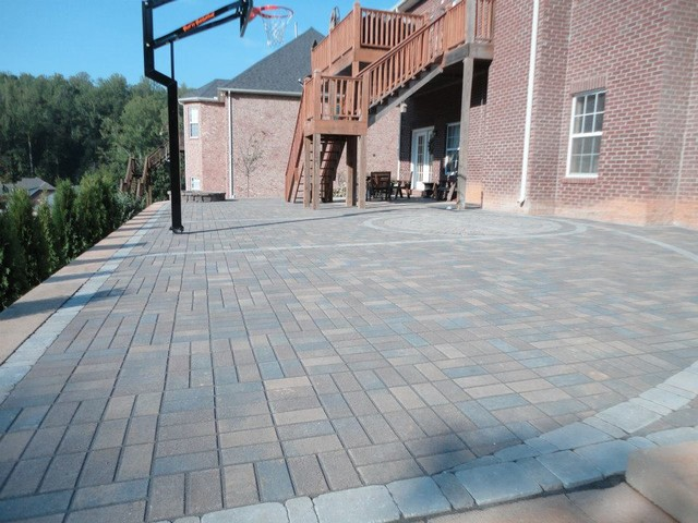 Paver basketball court - Modern - other metro - by Wildwood Land Design