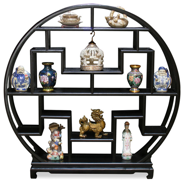 60in Elmwood Moon Curio Stand - Asian - Home Decor - by China ...