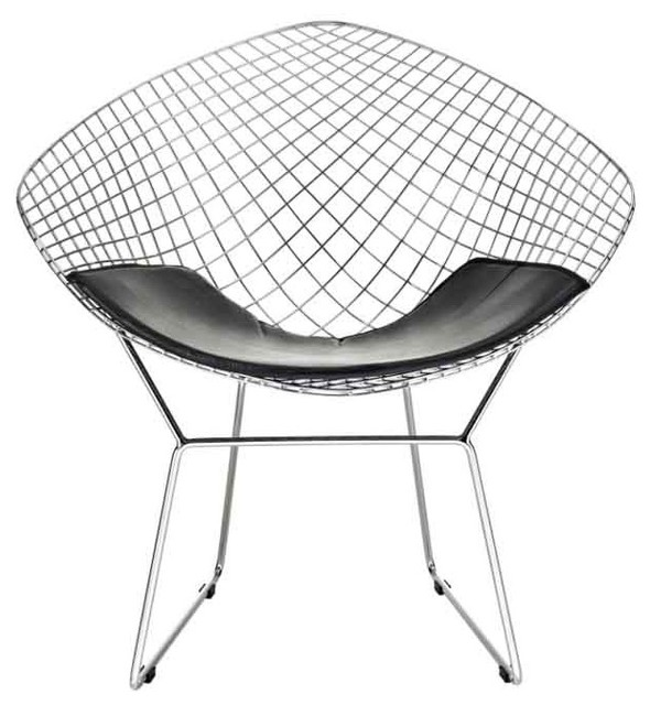 Modway Cad Diamond Wire Chair Eei 163 Blk Traditional Outdoor Lounge