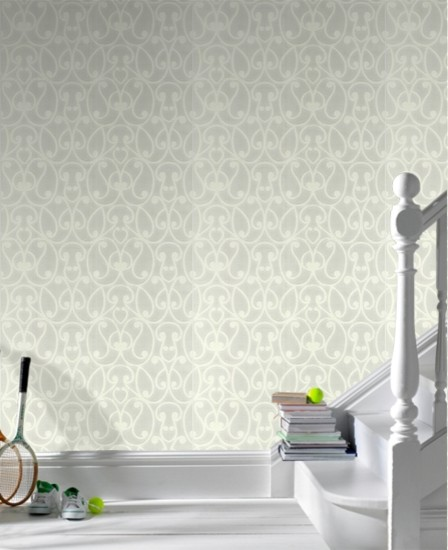 Superfresco Easy Jude White Trail Wallpaper eclectic-wallpaper