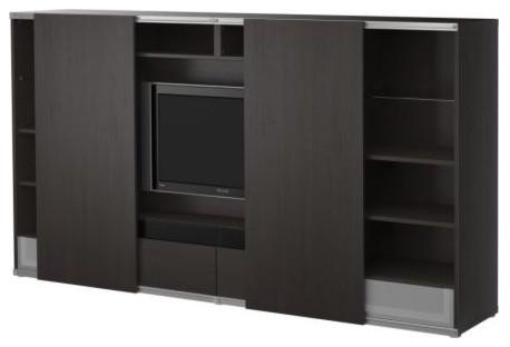 BESTÅ/INREDA TV storage combo with sliding doors modern-entertainment ...