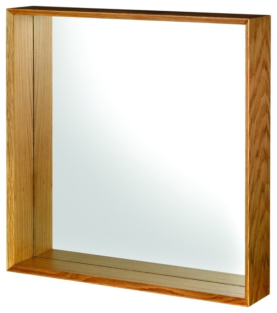 Awesome  In X 35 In Framed Vanity Mirror In OakMAG3036OA  The Home Depot