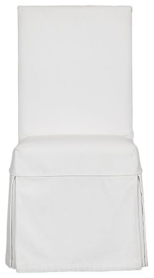 White Slipcover for Slip Side Chair traditional-dining-chairs