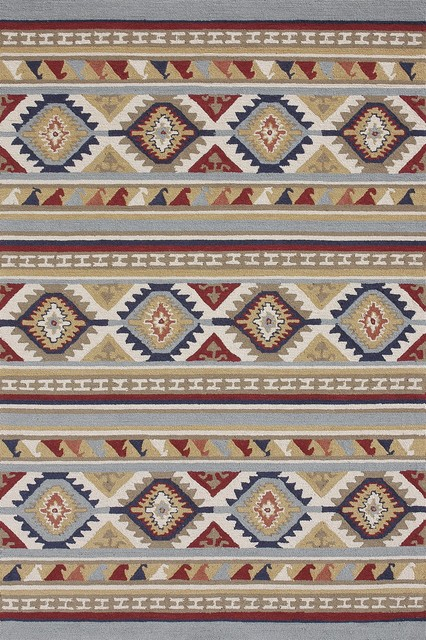Taos Multi Transitional Hand Hooked Rug transitional-rugs