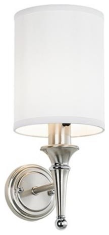 Contemporary Brushed Nickel Finish Plug-in Sconce traditional-wall-sconces