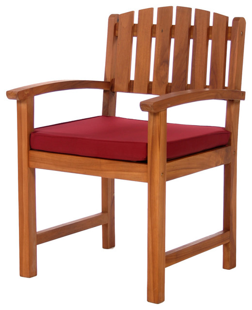 Dining Chair Cushions Red Traditional Outdoor Dining Chairs by All Th