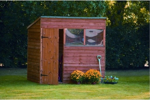 Premium overlap pent shed 5x7 traditional sheds for Garden shed 5x7