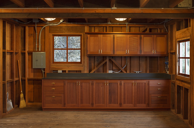 Boat house interior cabinets traditional san francisco for Boat kitchen cabinets