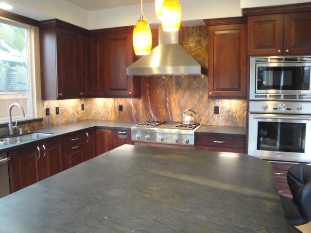 Bob Timberlake Inspired Home Remodel In Laguna Niguel traditional-kitchen-countertops
