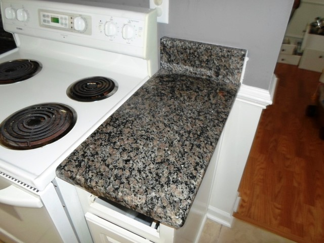 Caledonia Granite for White Cabinets  Traditional  charlotte  by