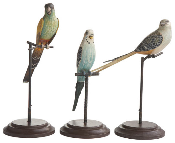Perfectly Grounded Birds on Stands traditional-artwork