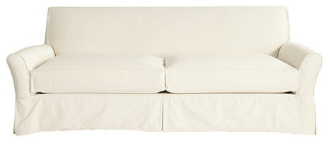 Hollis Sofa Slipcover - Special Order Fabrics traditional-living-room-chairs