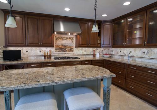 Ceramic tile counter