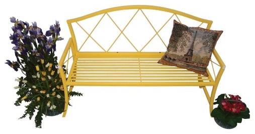 Austram Splash Bench-Yellow contemporary-indoor-benches