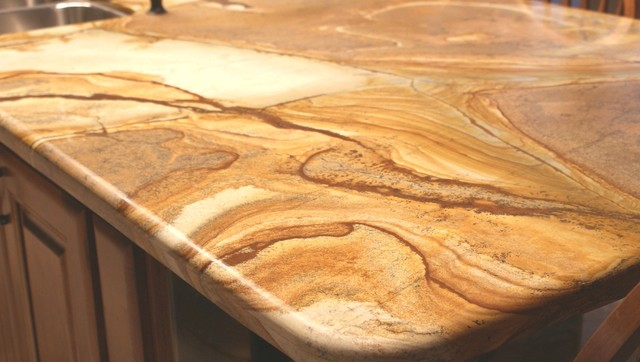 Palomino Marble 2cm traditional-kitchen-countertops