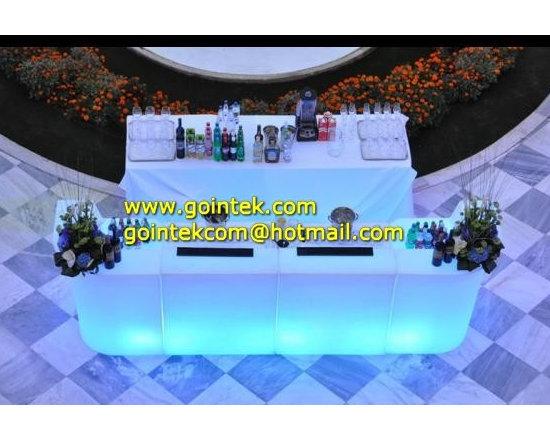 Hotel Illuminated LED Furniture Bar Counter -