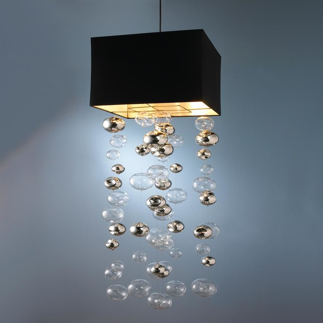 glass bubble shade chandelier lamp shades by shades of light. Black Bedroom Furniture Sets. Home Design Ideas