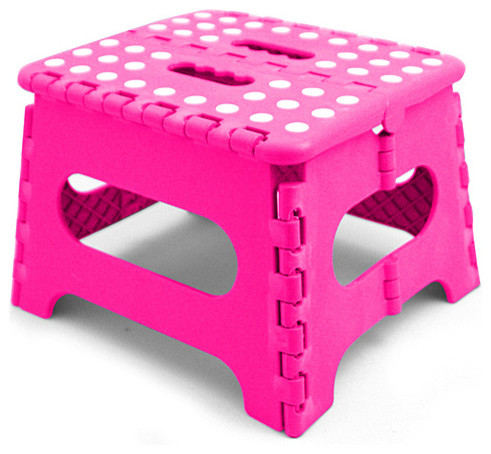 Pink Folding Step Stool Modern Ladders And Step Stools