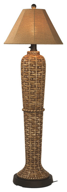Patio Living Concepts South Pacific 60 Inch Outdoor Floor Lamp w/ Sesame Sunbrel contemporary-outdoor-lighting