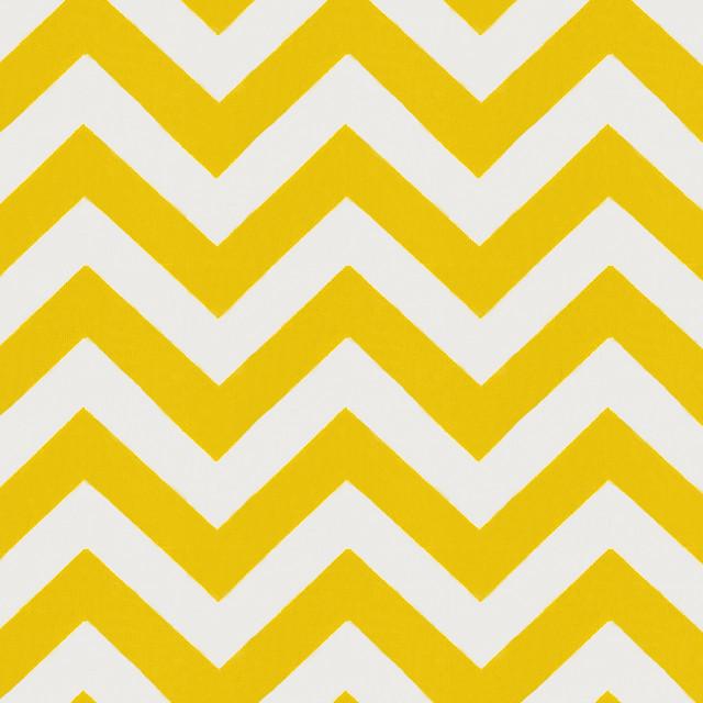 Yellow Zig Zag Fabric contemporary-fabric