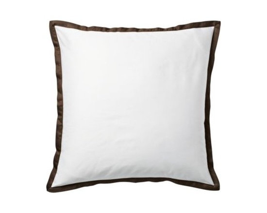 Chocolate Border Frame Euro Sham