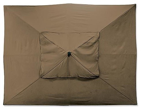 Outdoor Easy Shade Patio Umbrella in Sunbrella Brown - Black Aluminum, 10' x 13' traditional-outdoor-umbrellas