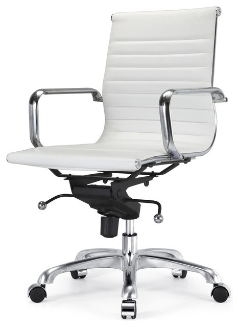 M344 office chair in white modern task chairs