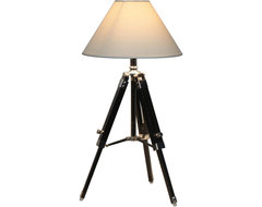 100 Essentials White Navy Tripod Table Lamp contemporary-table-lamps