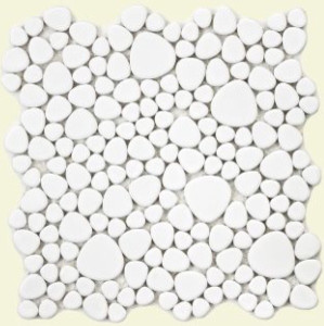 SomerTile 11x11-in Quarry White Gloss Porcelain Mosaic Tile eclectic-wall-and-floor-tile