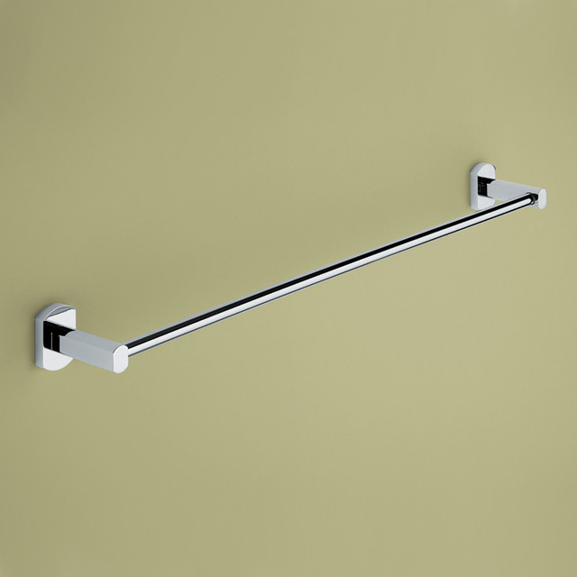 24 Inch Polished Chrome Towel Bar contemporary-towel-bars-and-hooks