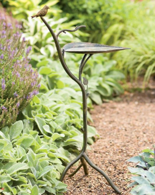 Bronzed Leaf Birdbath eclectic-bird-baths